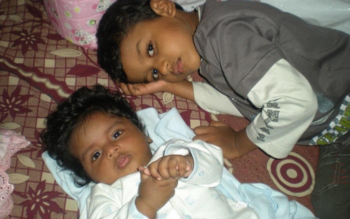 kaveen and kaveesh on awurudu-day
